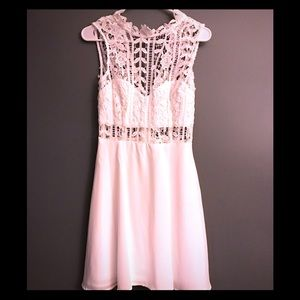 Lulus White Lace Dress